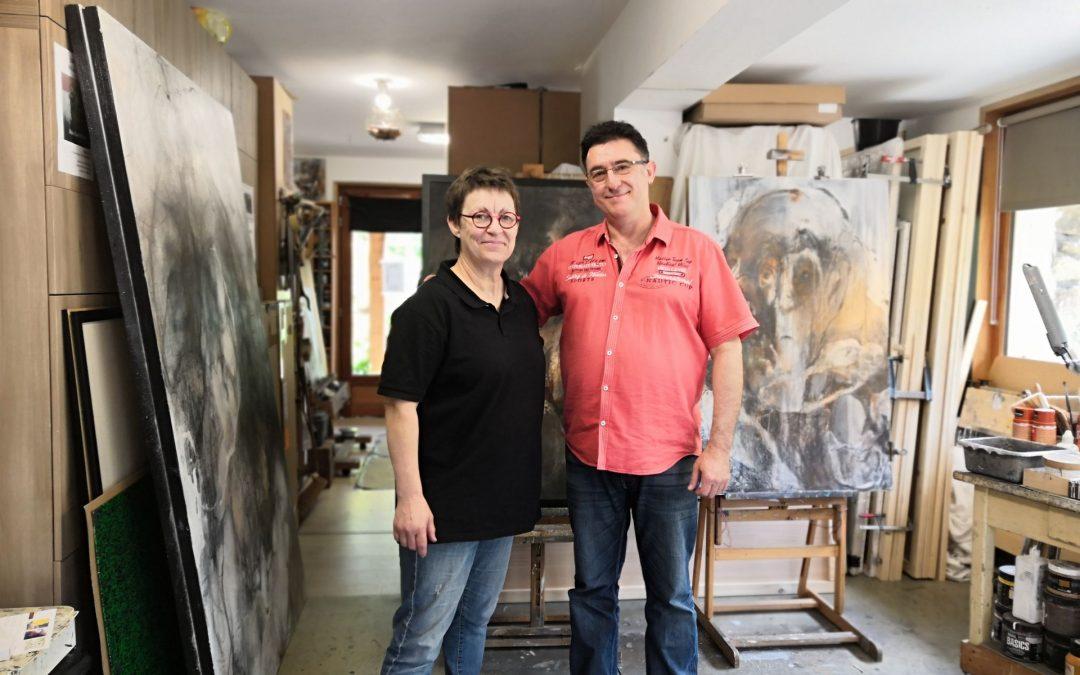 PANDEM'ART Galerie          Avec Pierre Garnier,                 en visite à l'Atelier…