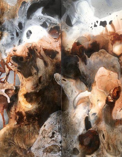 P139-Paysages-dâmes-sur toile - Diptyque160X220